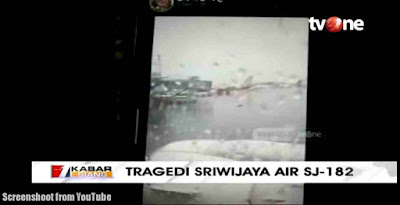 Screenshoot from YouTube about Falling Sriwijaya Air SJ 182