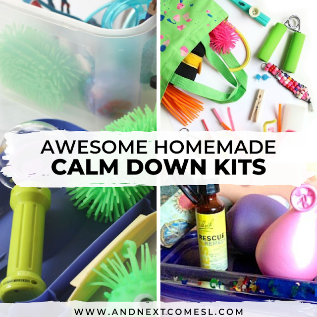 DIY calm down kit ideas for kids