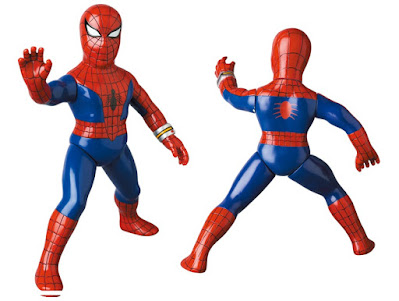 The Amazing Spider-Man 1978 TV Series Spider Strings Pose Marvel Retro Sofubi Collection Vinyl Figure by Medicom Toy