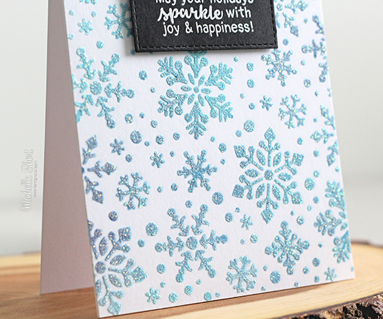 Deck the Halls with Inky Paws Week - Day 4 - Michelle Short | Snowfall Stencil and Sentiments of the Season Stamp Set by Newton's Nook Designs #newtonsnook