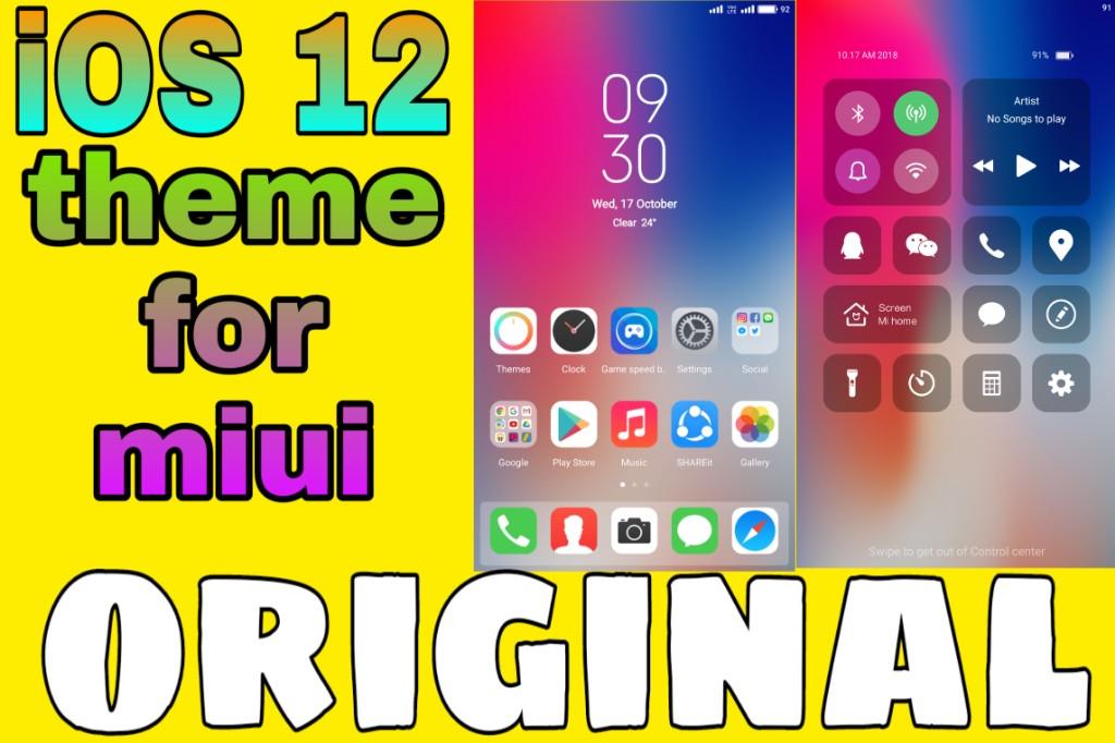 Original iOS theme for MIUI - SayanTechS1