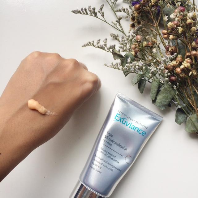exuviance face polish