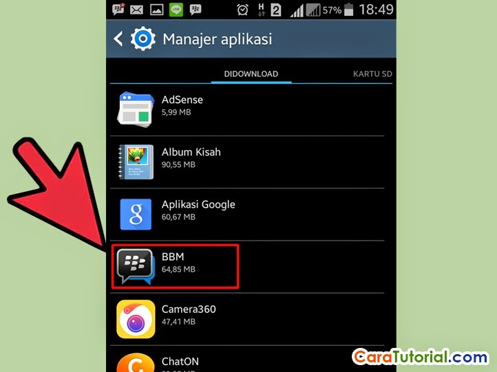 Manager Aplikasi BBM for Android
