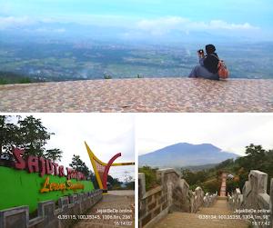 Menikmati Keindahan Bukittinggi Dari Puncak Janjang Sajuta Pada Lereng Gunung Singgalang
