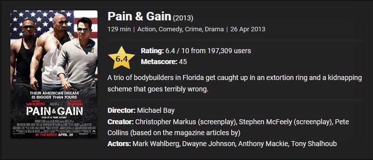 Pain And Gain (2013) Download Full Movie Dual Audio {Hindi-English} 480p [500MB] || 720p [1GB] || 1080p [2.1GB]