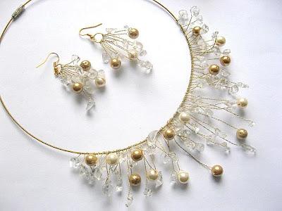 Set bijuterie mirese colier si cercei - pietre semipretioase