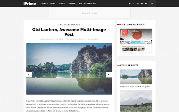 iPrime Free Blogger Template