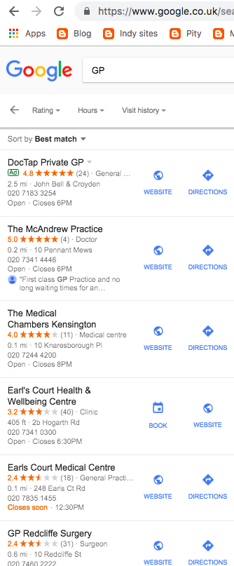 HelpHound Blog: Reviews and the medical profession - did our