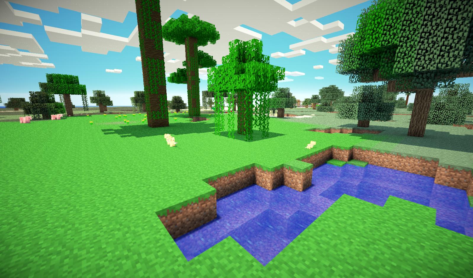 Plano De Fundo Minecraft: Universo Minecraft: Mundo Plano Com Biomas Para Minecraft