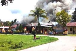 Pembakaran Mapolsek Nimboran Diduga Akibat Pengamanan Pelaku Pemalakan di SMA Genyem