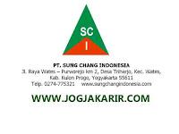 Lowongan Kerja Kulon Progo Staff Pengawas dan Pengelola IPAL di PT Sung Chang Indonesia