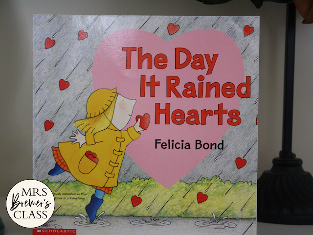 The Day it Rained Hearts Valentine's Day book study companion activities and craftivity Common Core literacy unit for K-1