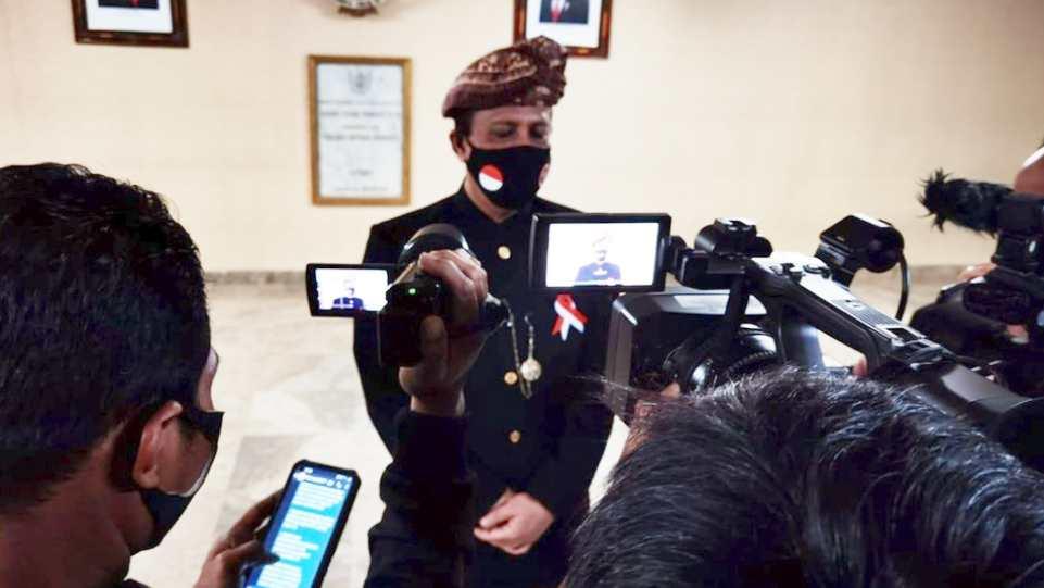 Kepala BNPT Boy Rafli saat konferensi pers di acara Salam Indonesia Harmoni pada Minggu 14 Februari 2021 di TVRI. (Dok. Istimewa)
