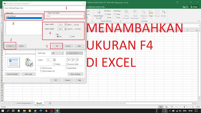 Cara Menambahkan Ukuran Kertas F4 di Ms. Excel 2016