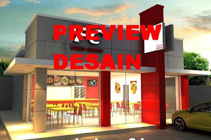 Design 3D restaurant fast food mirip KFC