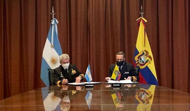 Jefe del Estado Mayor de la Armada de Ecuador, CALM (Submarinista) Brúmel Vázquez Bermúdez participa de la VII Reunión de Estados Mayores en Argentina