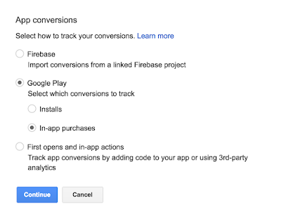 Count in-app purchases as conversions in AdWords