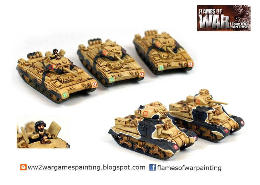 15mm WW2 British Tanks painter