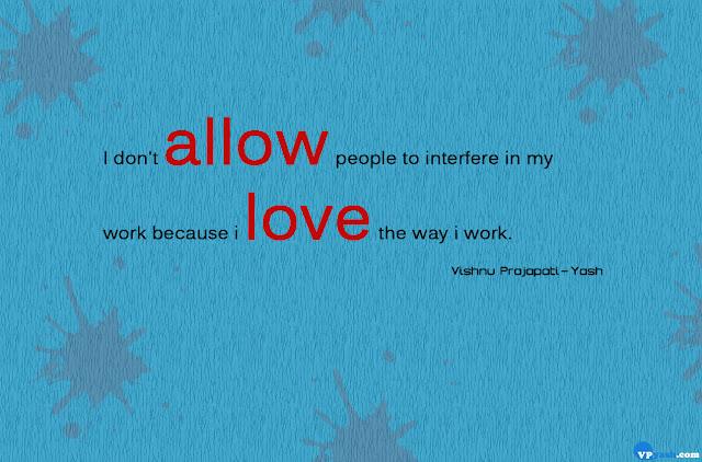 i love the way i work attitude quote