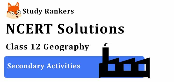 NCERT Solutions for Class 12 Geography Chapter 6 Secondary Activities