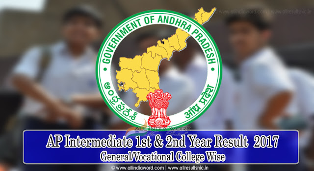 AP Intermediate College Wise Results 1st Year & 2nd Year