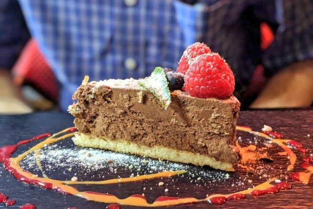 Things to do in Loire Valley - eat well. Chocolate mousse cake in Saumur