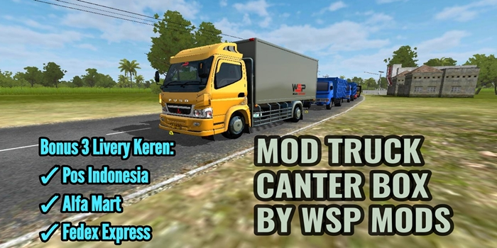 Download MOD Truck Canter Box V18 BUSSID By WSP Mods