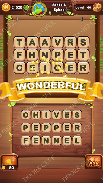 Word Bright Level 160 Answers, Cheats, Solutions, Walkthrough for android, iphone, ipad and ipod