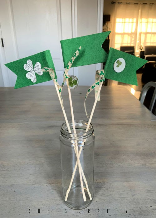 Fabric Flag plant flair - St Patrick's Day Flags