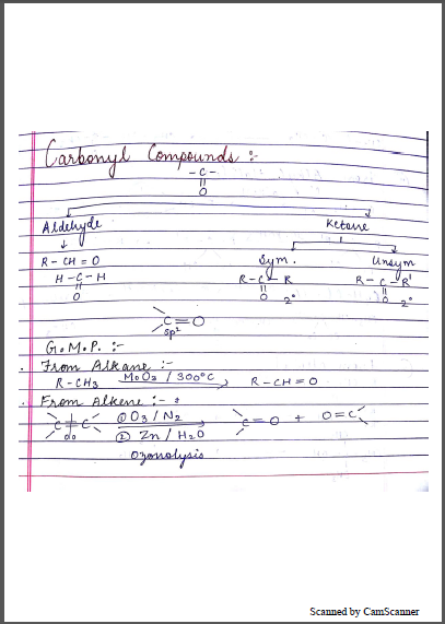 Chemistry Chapterwise Notes (Aldehyde Ketones and Carboxylic Acids) : For JEE and NEET Exam PDF Book
