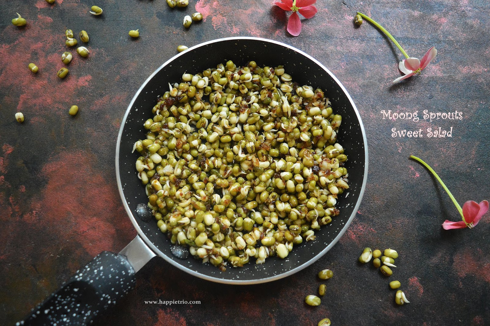 Moong sprouts Sweet Salad Recipe | Moong Sprouts Salad