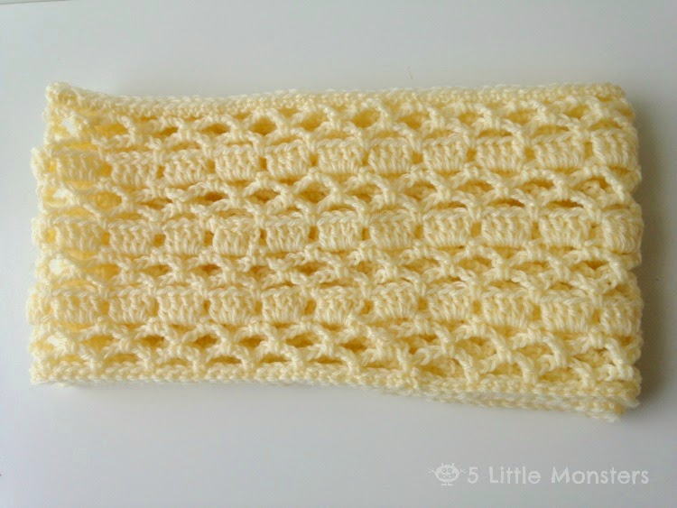 5 Little Monsters Spring Scarf Free Crochet Pattern