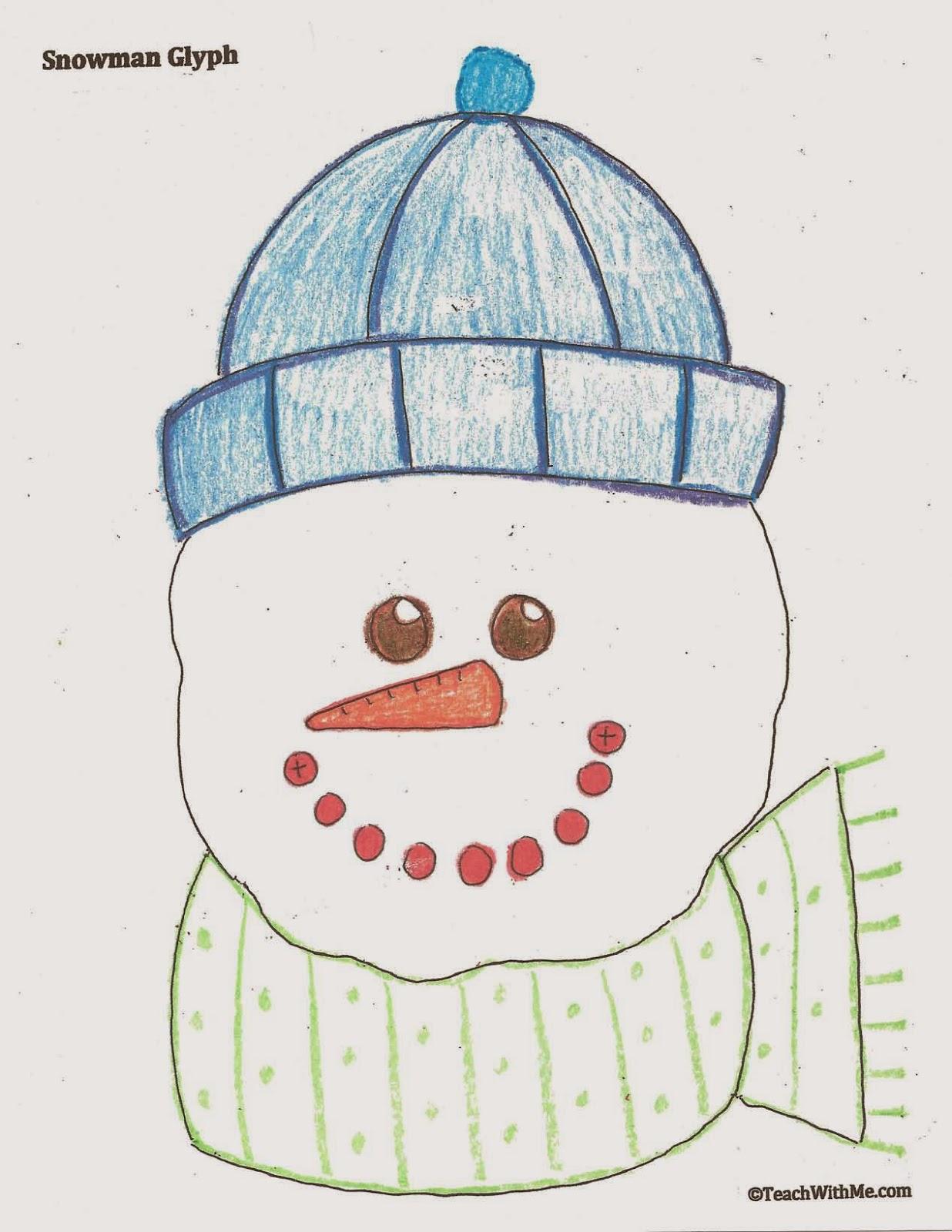 Classroom Freebies Snowman Glyph
