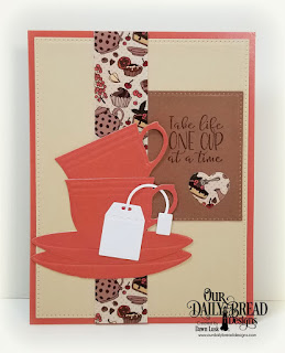 Our Daily Bread Designs Stamp/Die Duos: Hug in A Mug, Paper Collection: Latte Love, Custom Dies: Cups & Mugs, Pierced Rectangles
