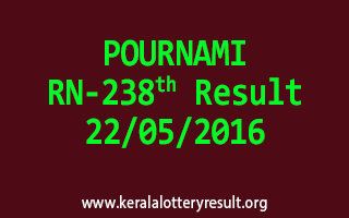 POURNAMI RN 238 Lottery Result 22-5-2016