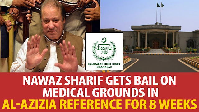 nawaz sharif released for eight weeks