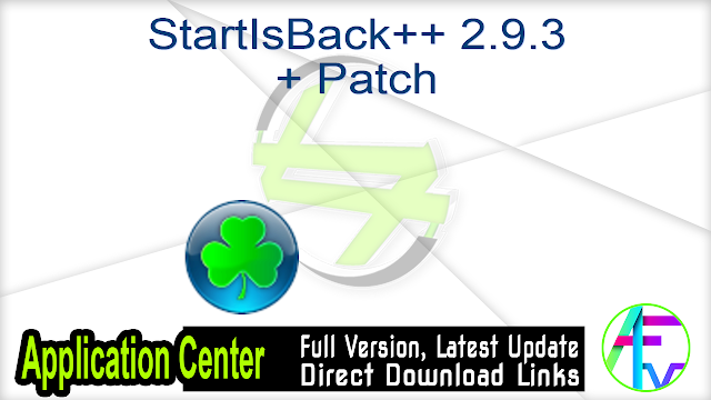 StartIsBack++ 2.9.3 + Patch