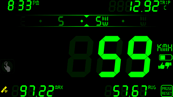 DigiHUD Speedometer on Android Device