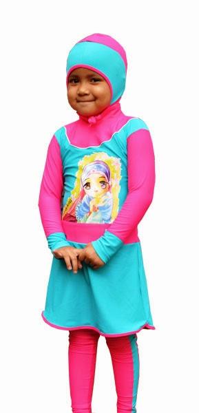 Gambar Busana Muslim Renang Anak