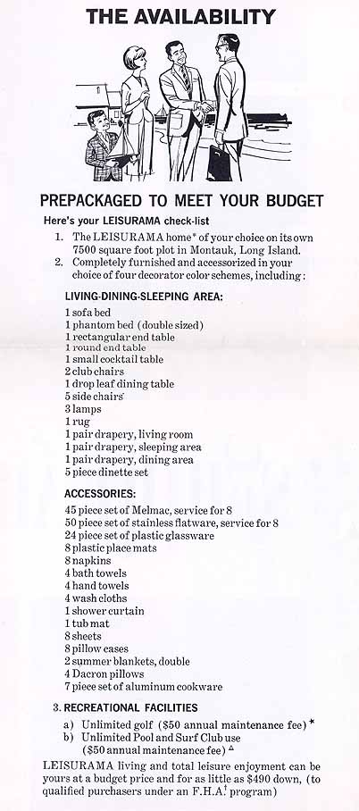 Leisurama checklist @ Sears Homes of Chicagoland
