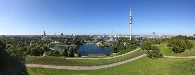 Vistas panorâmicas de Munique - vários lugares para subir e ver a cidade do alto! Torre no Olympiapark