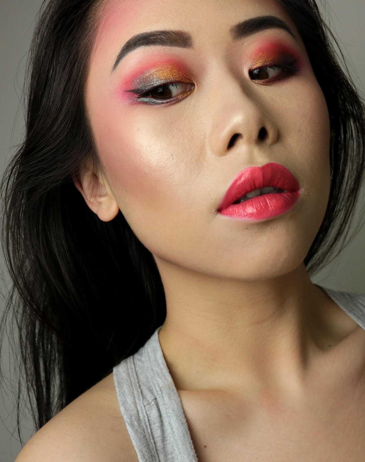 Crimson | Monday Shadow Challenge maquillage rouge