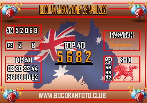 Bocoran Syair Sydney 25 April 2021