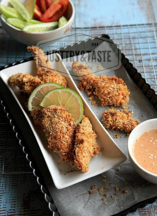 Resep Cicken Fingers dengan Saus Madu Wijen