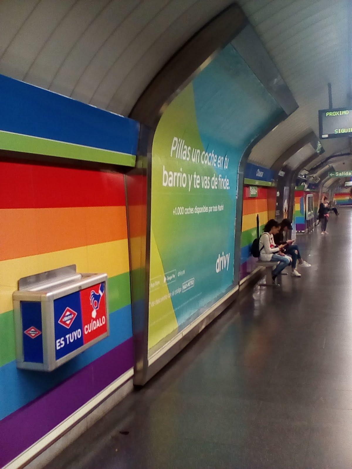 Μadrid gay metro station Sueca