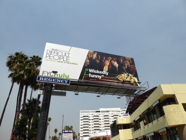 Difficult People season 1 Emmy 2016 billboard