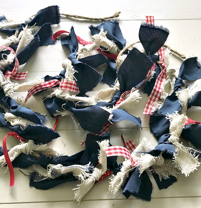 DIY Fourth of July Rag Garland Tutorial