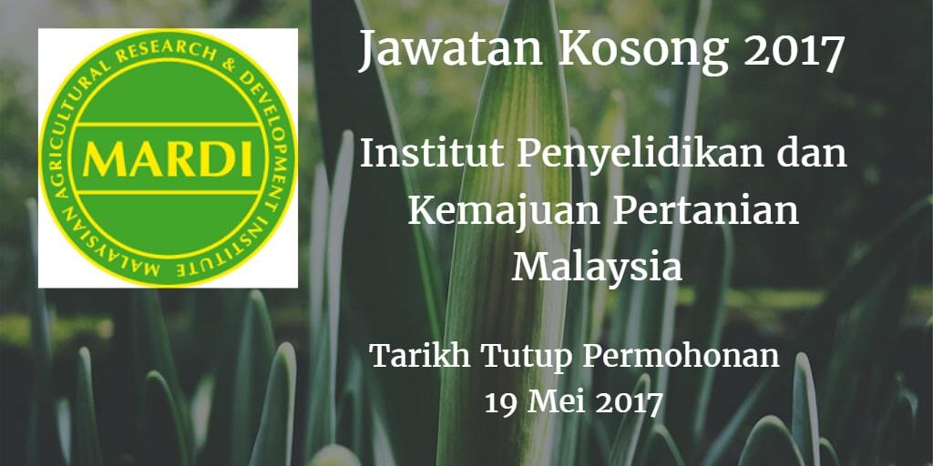 Jawatan Kosong MARDI 19 Mei 2017
