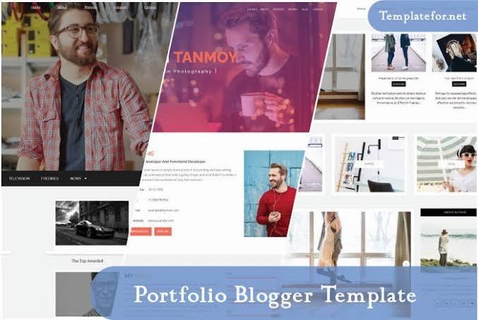 portfolio Blogger Template premium version free
