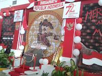 Aksesoris unik dan menarik yang dipasang dalam menyambut hari Kemerdekaan 17 Agustus 2017